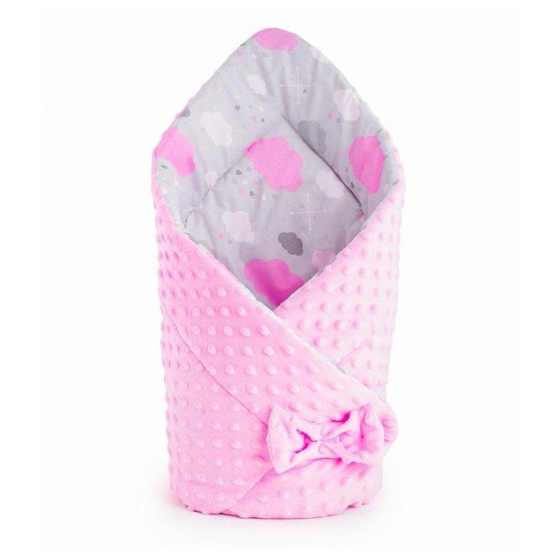Rożek Dwustronny MINKY Bocioland - Chmurki Różowe