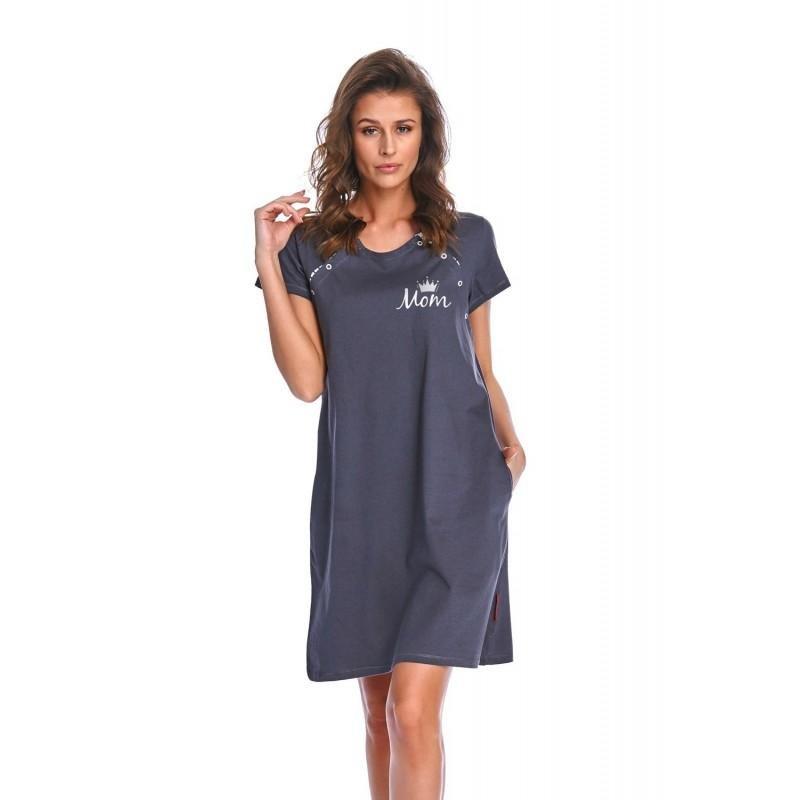 Rozpinana Koszula Nocna na magnesy DOCTOR NAP 9992 GRAPHITE