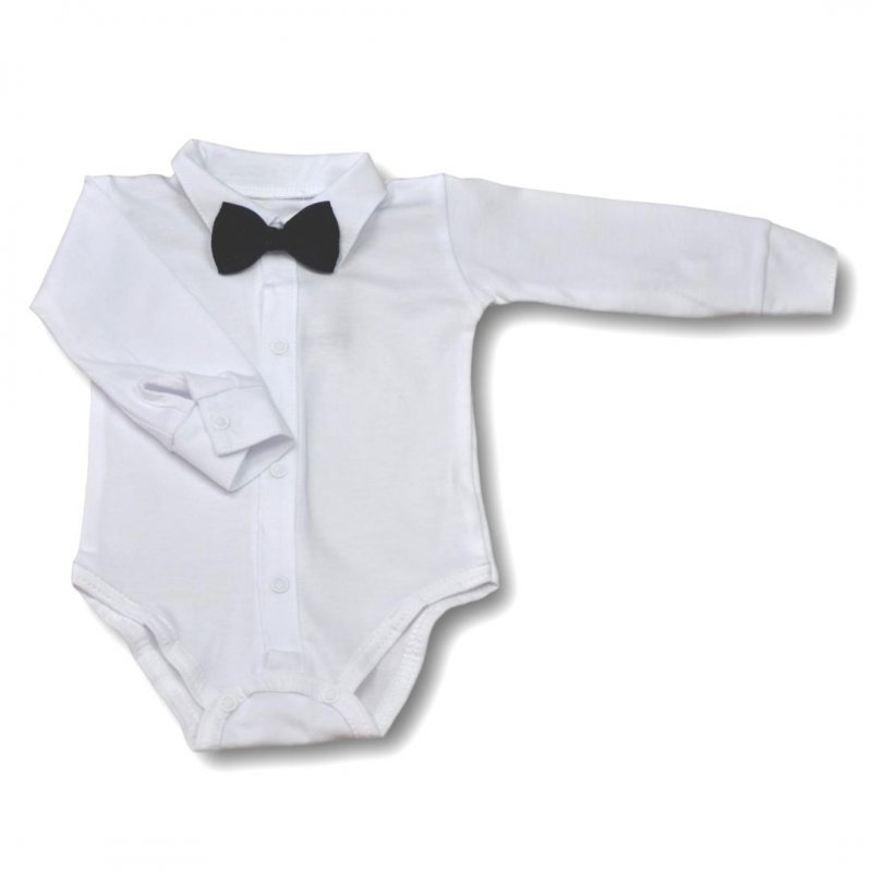 Body koszulka Mrofi z muszką czarną - Długi rękaw