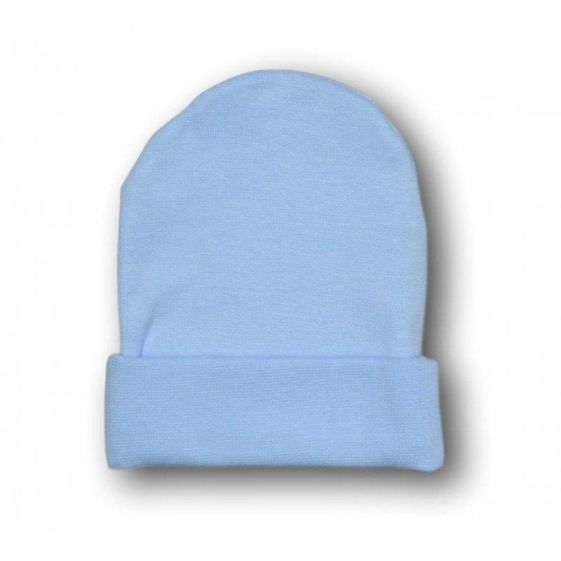 Czapeczka niemowlęca błękitna