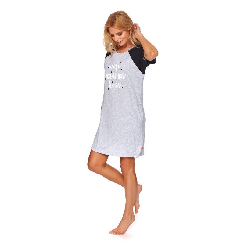 Rozpinana Koszula Nocna DOCTOR NAP 9700 GREY MELANGE