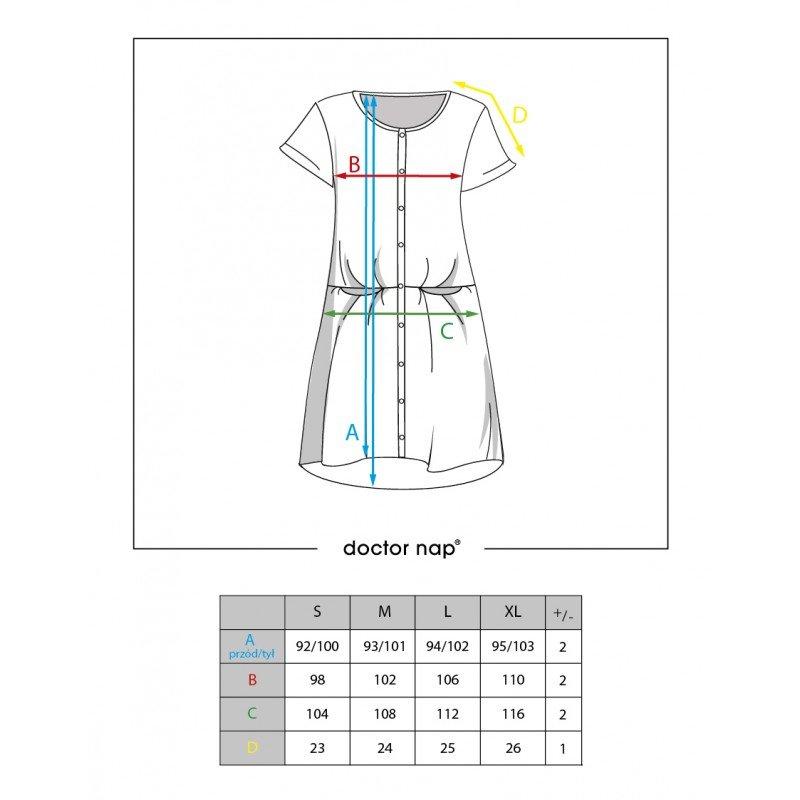 Rozpinana Koszula Nocna DOCTOR NAP 9504 INDYGO