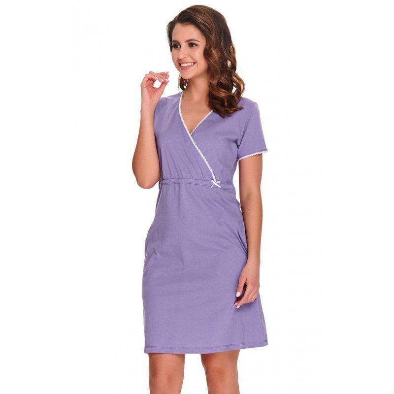Koszula Nocna z Bawełny Organicznej DOCTOR NAP 9907 LILAC