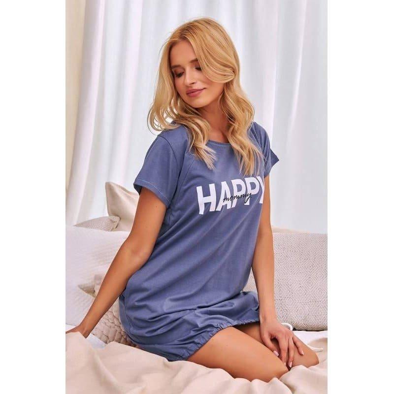Koszula do Porodu Doctor  Nap - Indygo  9504