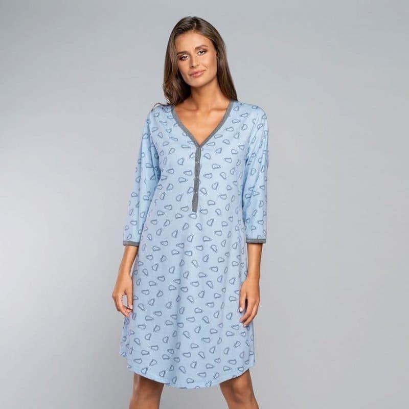 Rozpinana Koszula Nocna ITALIAN FASHION LOJA Błękit