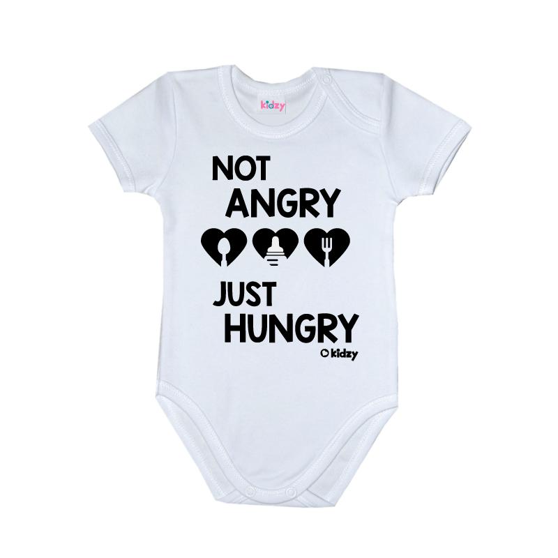Body Niemowlęce z Krótkim Rękawem KIDZY Not Angry!