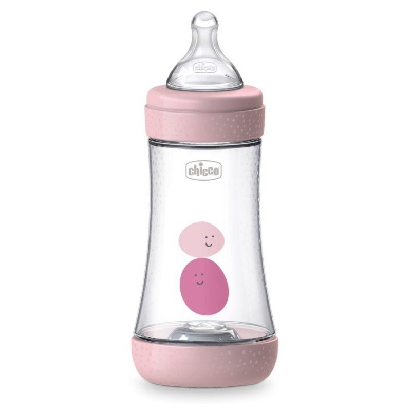 Butelka Perfect 5 Chicco Różowa 240ml 2m+
